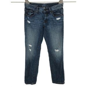 LOFT Slim Boyfriend Jeans Sz 24/00 Distressed